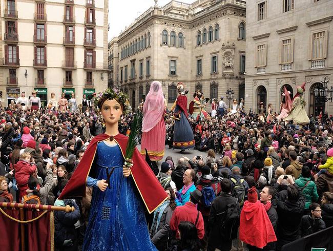 Festes de Santa Eul‡lia a Barcelona. La Laia. Cedides Institut de Cultura de Barcelona